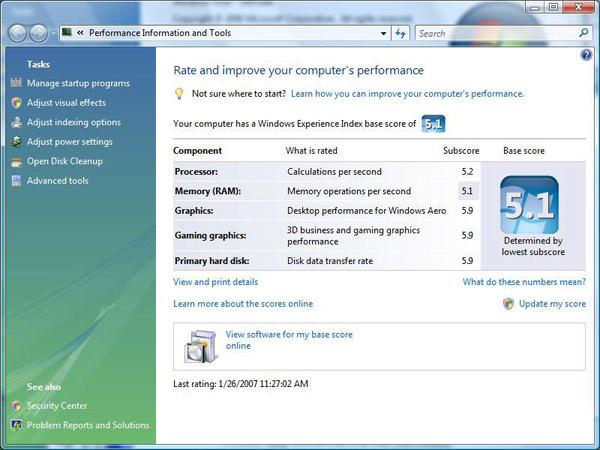 Windows Vista как игровая площадка