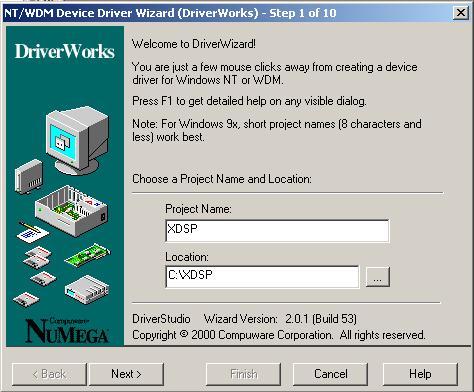 Первый шаг DriverWizard