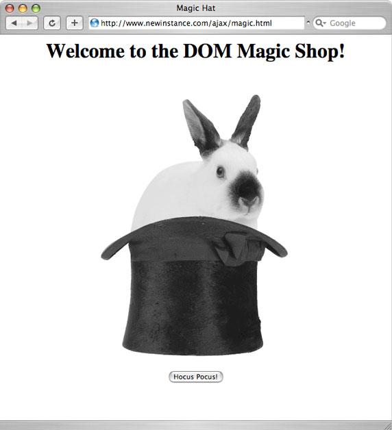 Должен появиться кролик