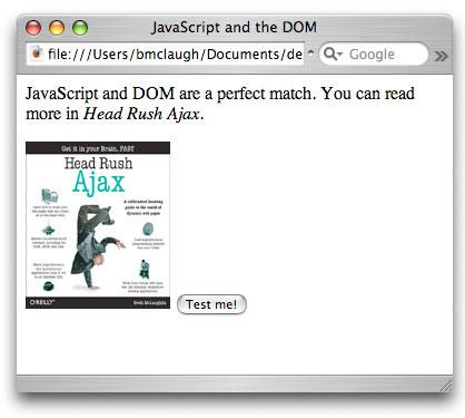 Рисунок 1. Пример HTML-страницы с кнопкой для запуска JavaScript